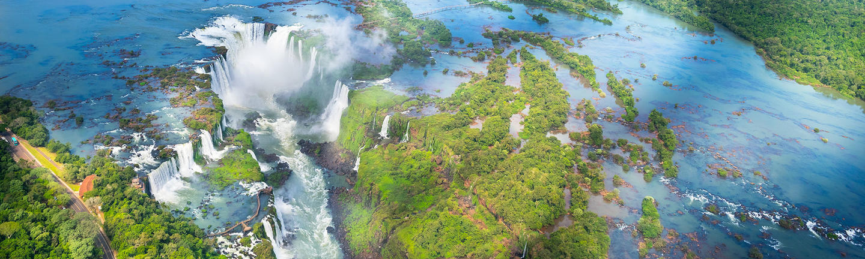 Iguassu Falls aerial