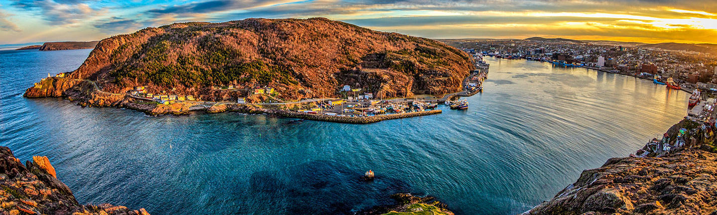 St John's Harbour at sunset, Newfoundland
