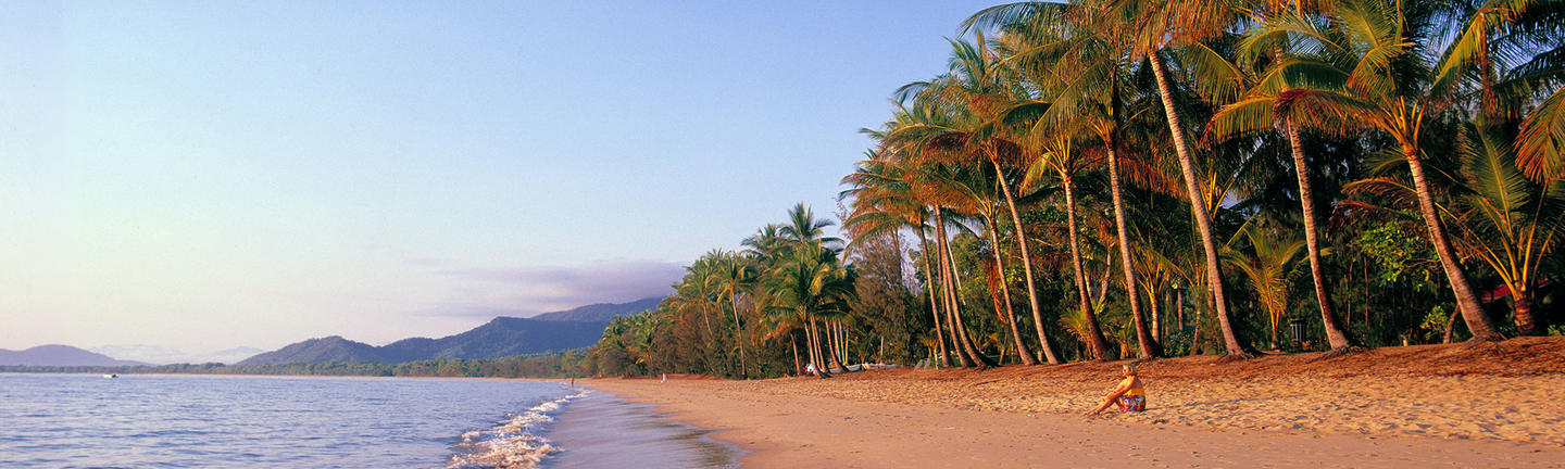 The beach at Palm Cove in Cairns