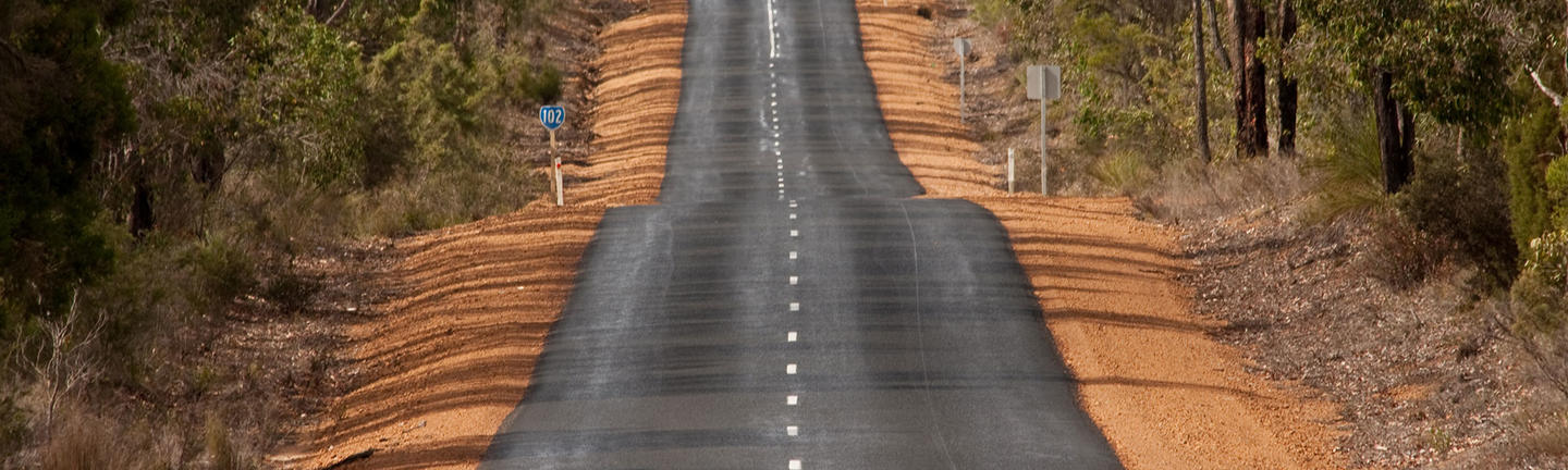 A long country road in Western Australia