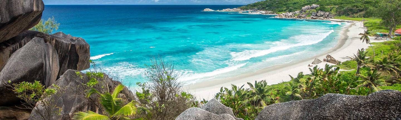 Grande Anse on La Digue island, Seychelles