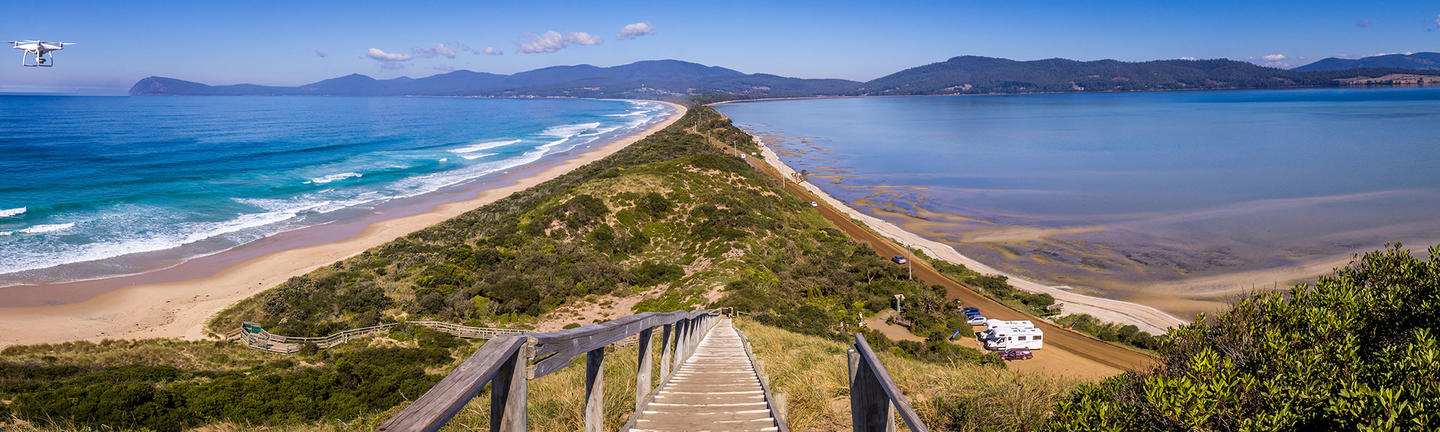 Overlooking Bruny Island in Tasmania