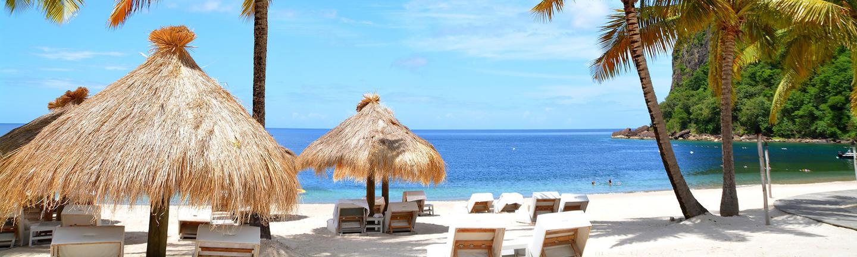 A beach in St Lucia