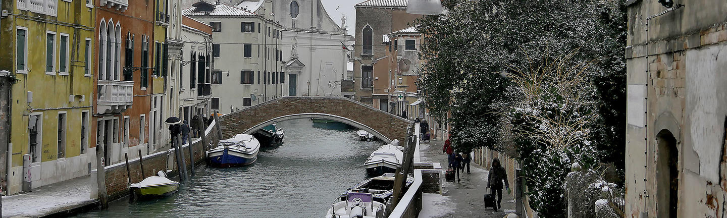 Venice canals winter