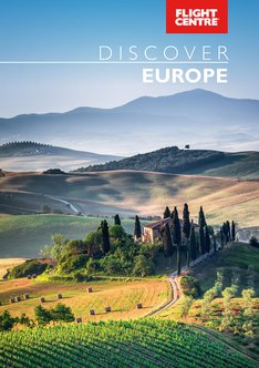Europe Journeys brochure cover PNG