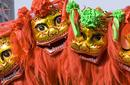 Lion Dance for Chinese New Year, China