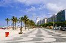 Boardwalk alongside Copacabana Beach, Rio de Janeiro