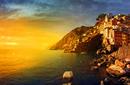 The sun sets on Cinque Terre