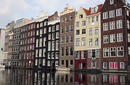 Medieval Architecture Line Amsterdam's Canals, The Netherlands