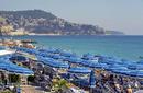 Umbrellas line the French Riviera, Nice, France   by Flight Centre's Tiffany Apatu