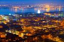 The lights of Liverpool at night