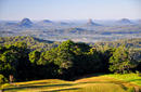 Looking to the Glasshouse Mountains, a daytrip from Noosa