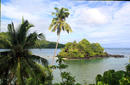 Sheltered Bay Featuring Palm Trees, Upolu