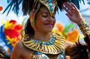 Reveller, Rio Carnival, Brazil
