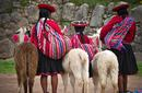 Girls in Traditional Dress, Peru