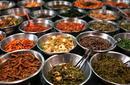 Bowls of Kimchi, Traditional Korean Food Market, Seoul