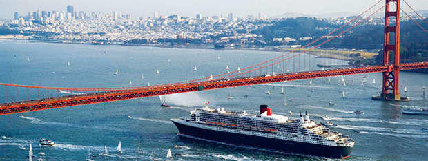 Sail San Francisco bay with Cunard