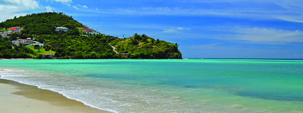 Secluded tropical beach in Grenada