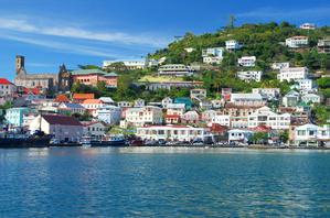 Colourful houses in Grenada