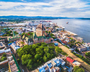 Quebec City from a helicopter