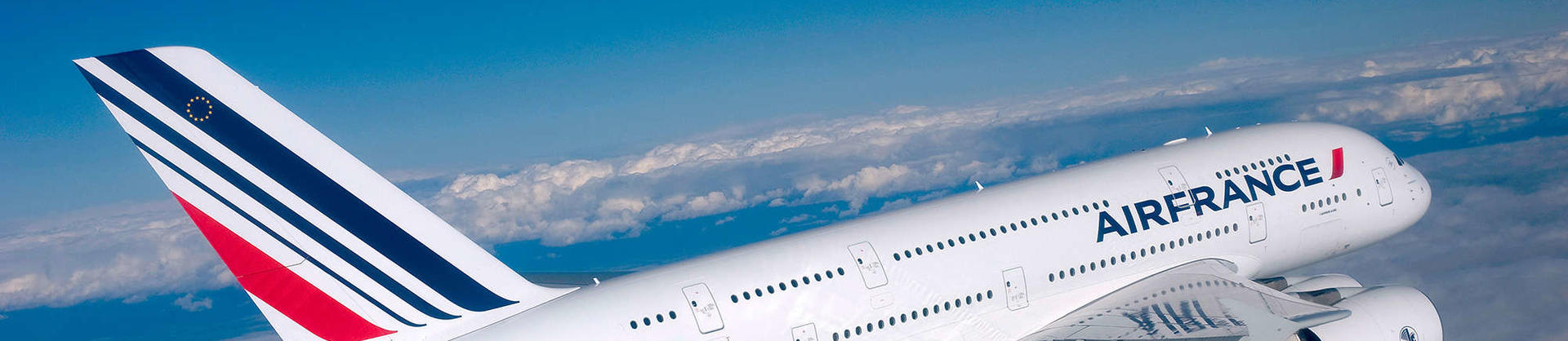 Air France A380 aircraft in the air
