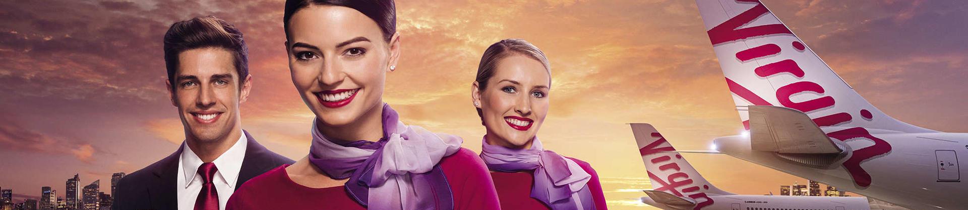 Virgin Australia aircraft and crew