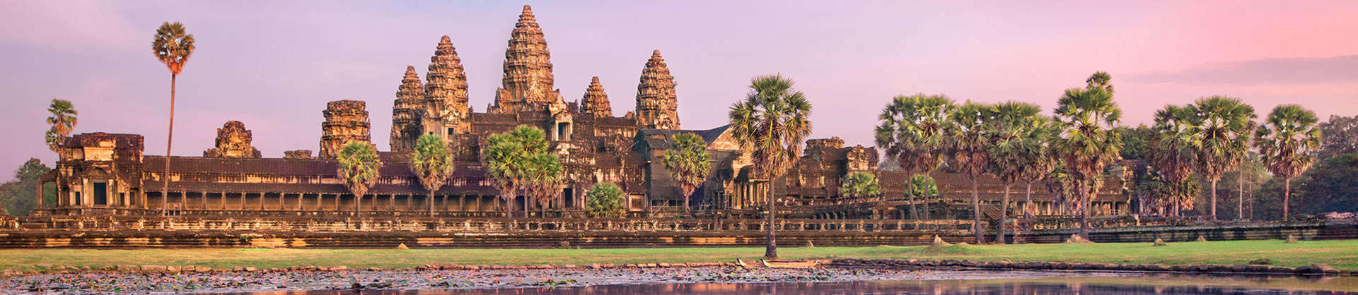 Angkor Wat at sunset in Siem Reap in Cambodia