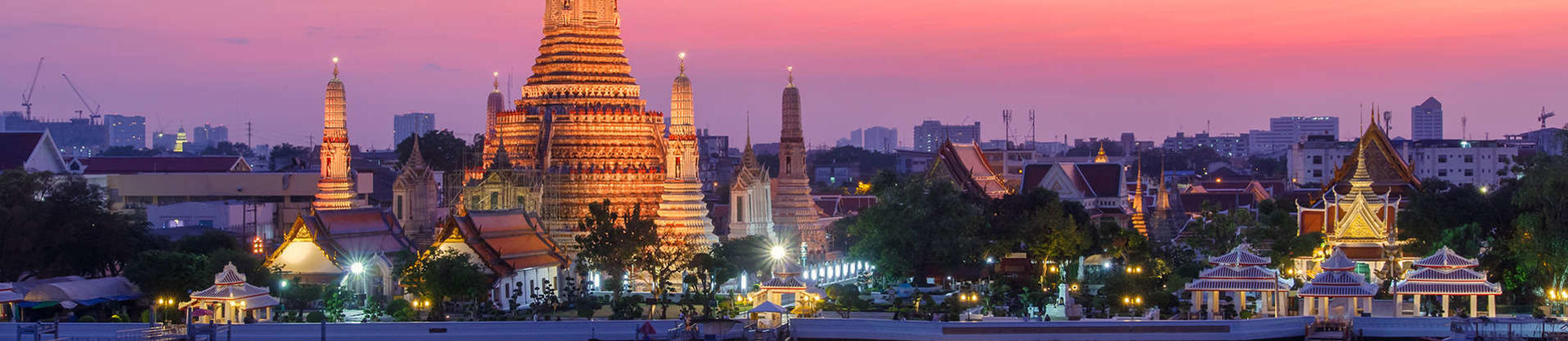Bangkok city skyline at sunset