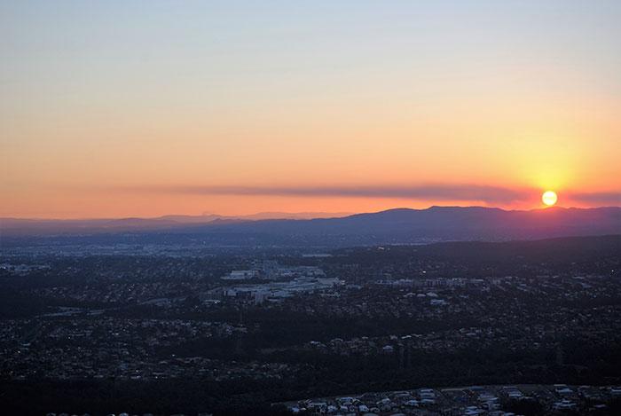 Sunset at Mount Coot-tha
