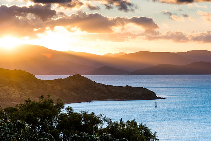 Sunset from One Tree Hill Hamilton Island