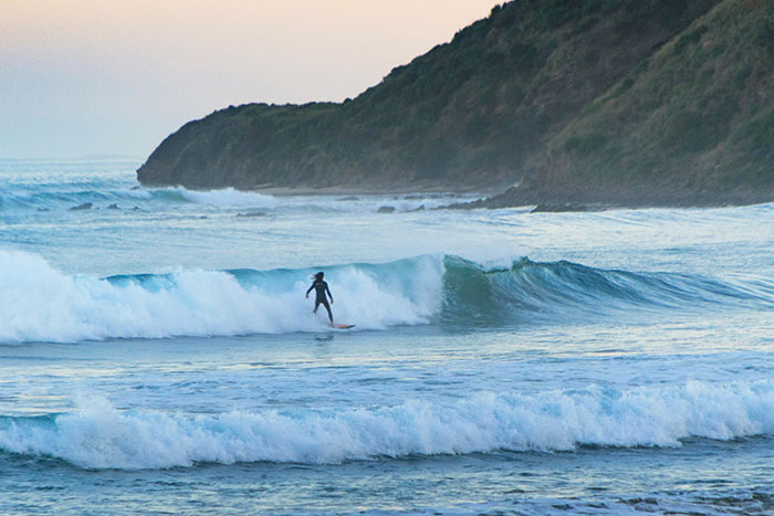 Surfing on the Great Ocean Road