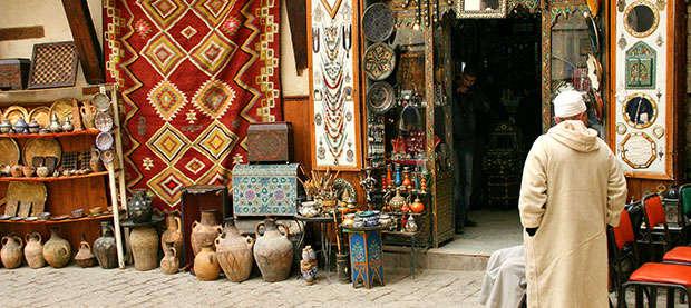 Inside a traditional medina in Marrakesh