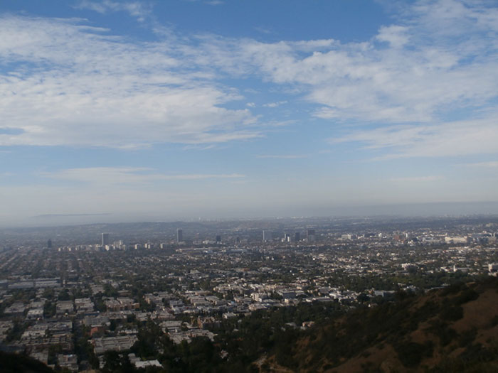 The view from Runyon Canyon LA Carlie Mesquitta