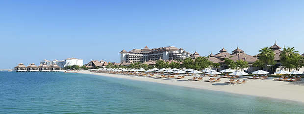 The beach at Anantara The Palm Dubai