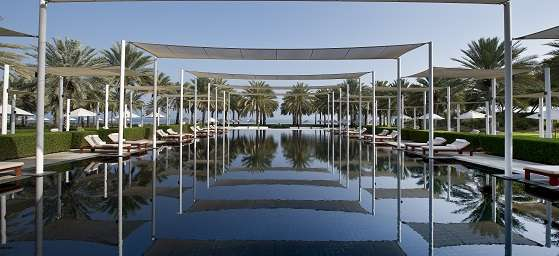 The pool at Chedi Muscat in Oman