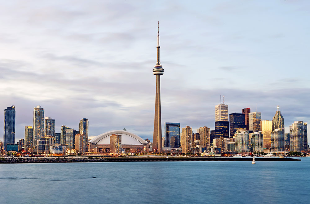 Toronto Skyline with CN Tower