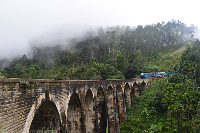 Train on Nine Arch Bridge Sophie Cole