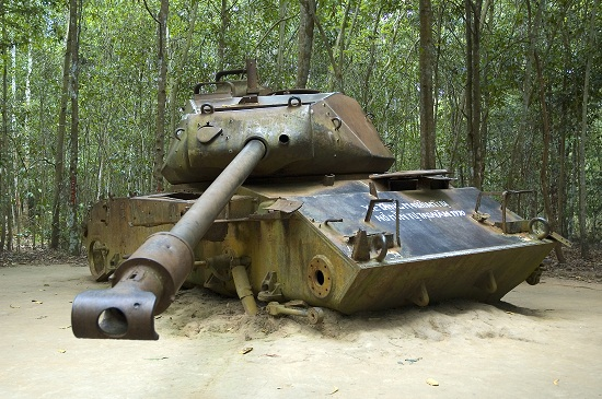 American Tank on Cu Chi Tunnels Tour