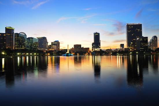 Lake Eola, Orlando, After Sunset