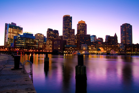 Boston, Masachusetts, Skyline at Dusk