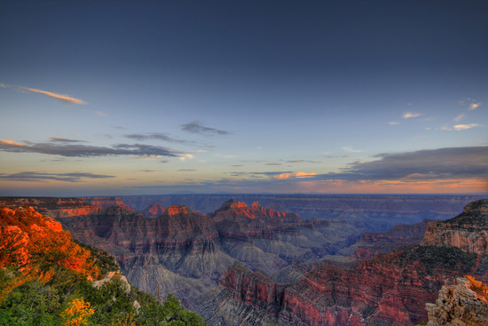 Grand Canyon, Arizona at Dusk
