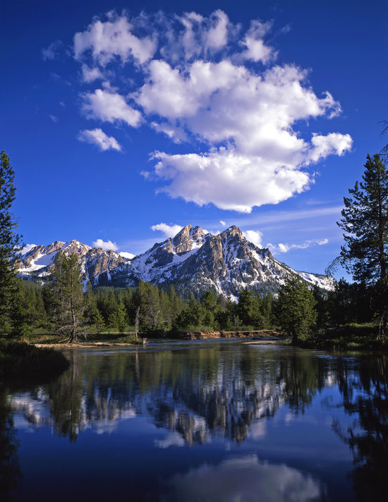 Mount McGown in the Sawtooth National Forest, Idaho