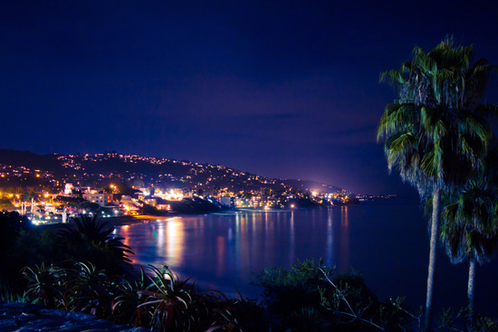 Laguna Beach at Night in California