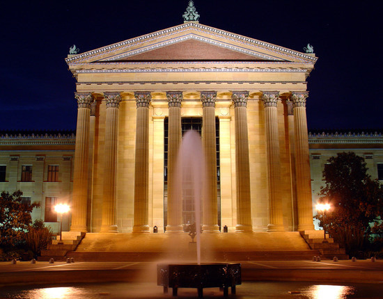 The Philadelphia Museum of Art at Night, Pennsylvania