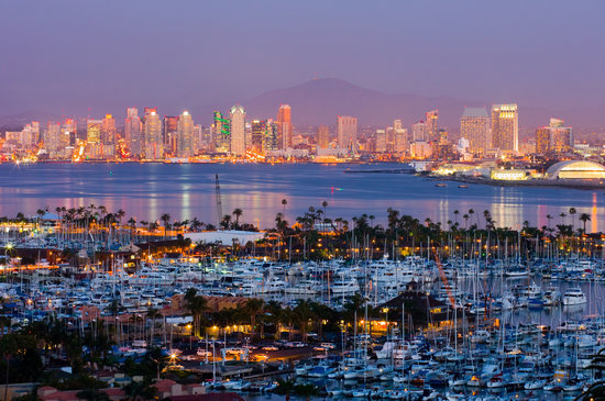San Diego Skyline at Dusk, California
