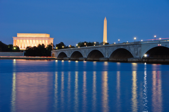 Bridge at Night in Washington D.C
