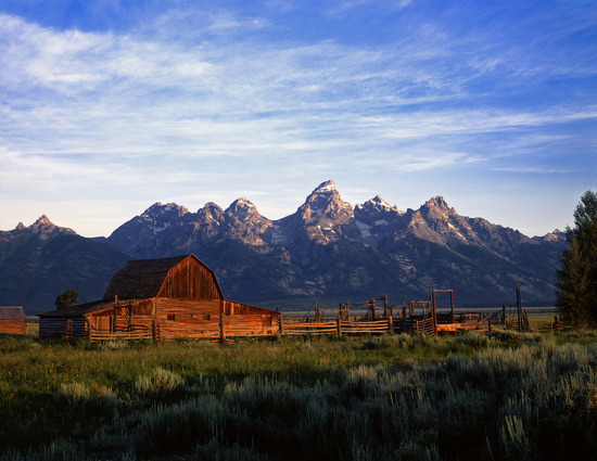 Teton Mountain Range in National Park, Wyoming