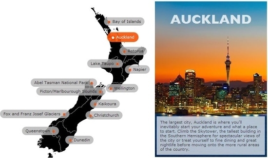 About New Zealand Interactive Map