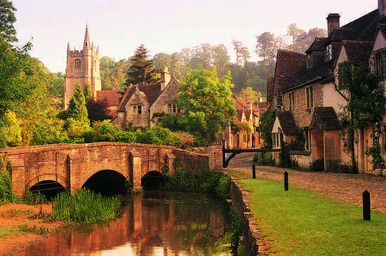 English Town by River