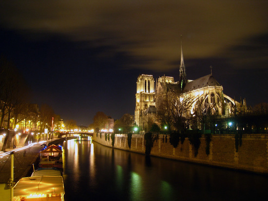 Cathédrale de Notre Dame at Night, Paris